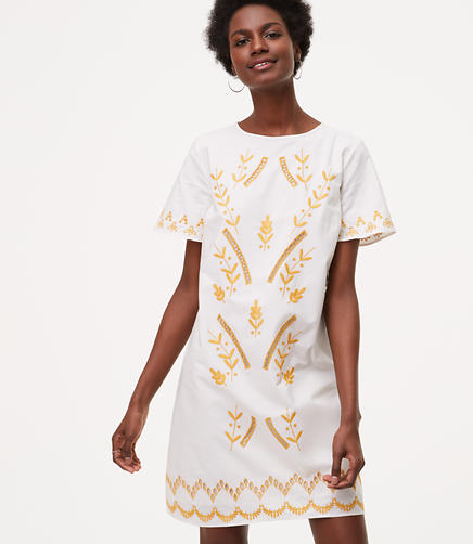 Image of Gilded Garden Shift Dress