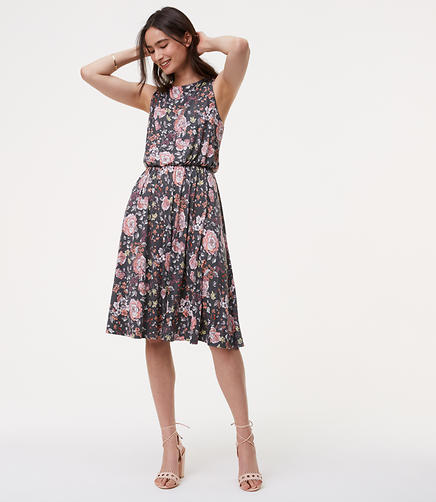 Image of Floral Ruffle Back Dress