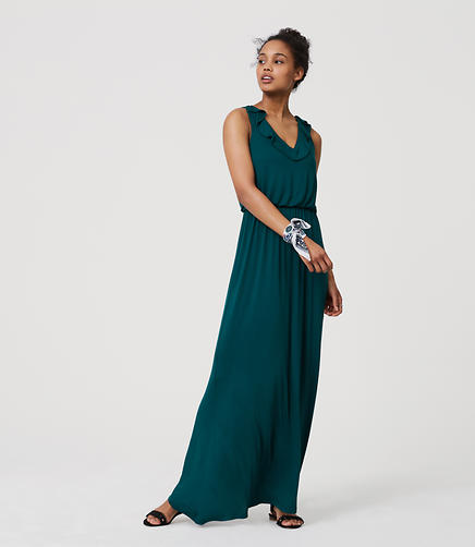 Image of Ruffle Maxi Dress