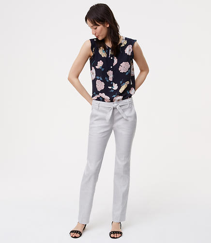 Image of Tall Belted Relaxed Ankle Pants
