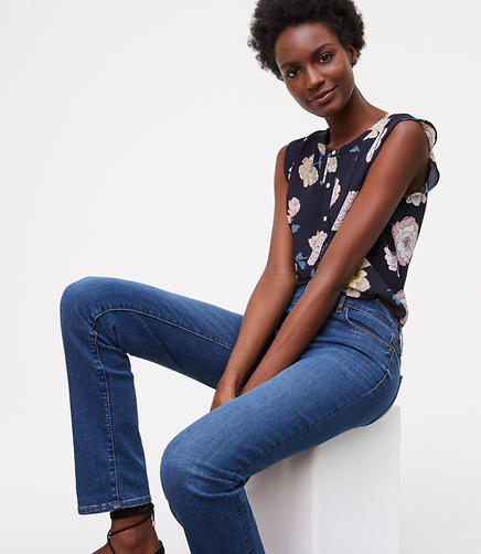 Image of Modern Straight Leg Jeans in Classic Mid Indigo Wash