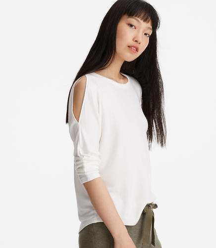 Image of Lou & Grey Signaturesoft Cold Shoulder Top