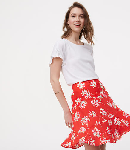 Image of Floral Seamed Skirt