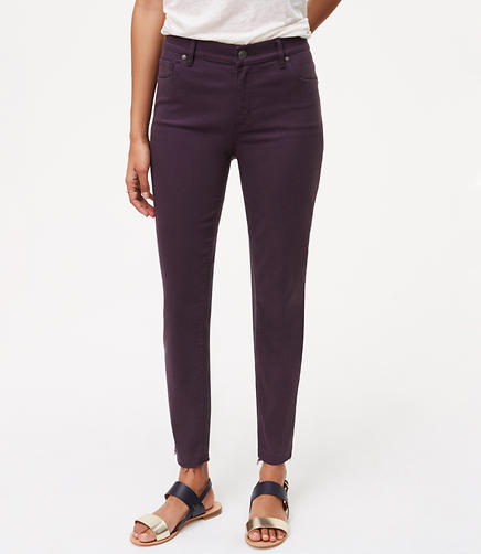 Image of Curvy Unpicked Skinny Ankle Jeans in Midnight Violet
