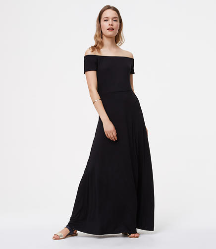 Image of Petite Off the Shoulder Maxi Dress