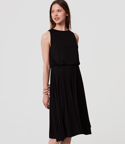 Image of Petite Ruffle Back Dress