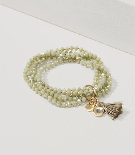 Image of Tassel Multistrand Stretch Bracelet