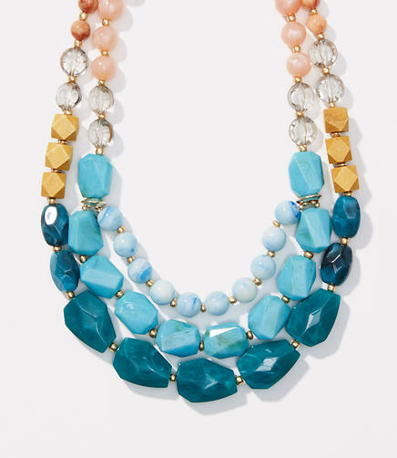 Image of Triple Strand Beaded Necklace