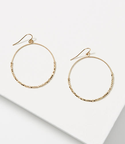 Image of Nugget Hoop Earrings