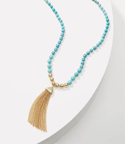 Image of Beaded Tassel Necklace