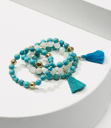 Image of Tassel Stretch Bracelet Set