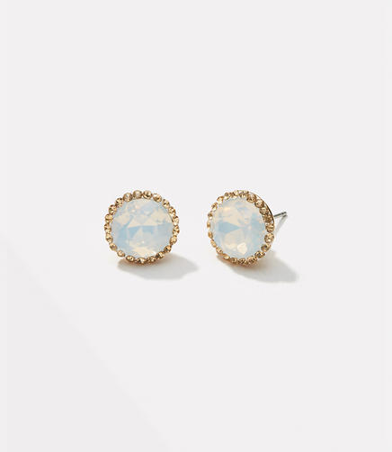 Image of Pave Stone Stud Earrings