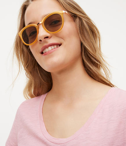 Image of Matte Round Sunglasses