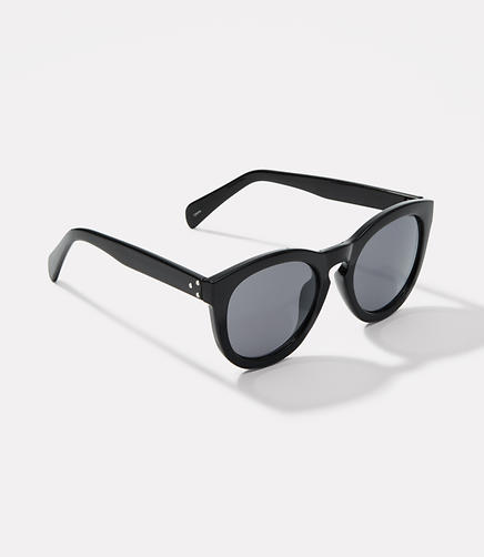 Image of Studded Round Keyhole Sunglasses