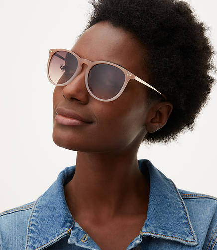 Image of Metallic Arm Round Sunglasses