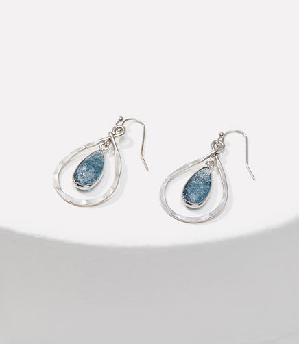 Image of Dangling Stone Drop Earrings