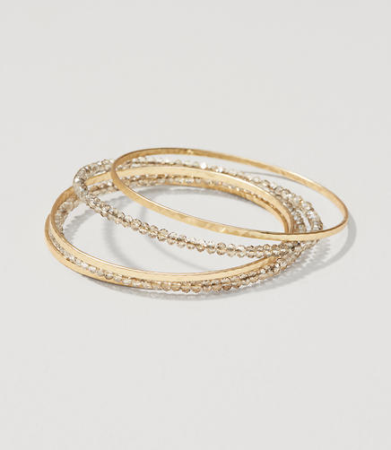 Image of Rondelle Bangle Set