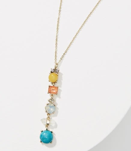 Image of Stacked Crystal Stone Necklace