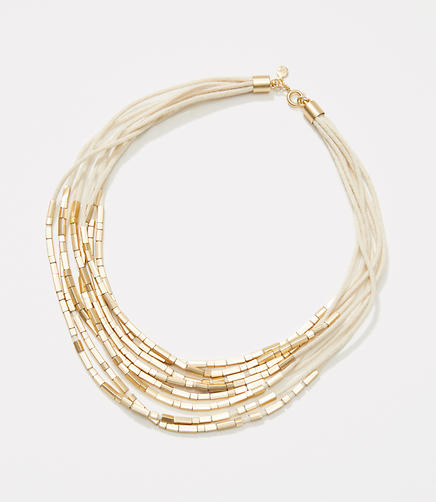 Image of Multistrand Metallic Bar Necklace