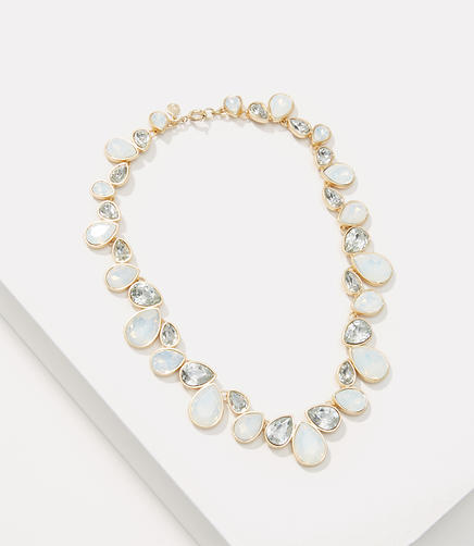 Image of Iridescent Crystal Stone Necklace