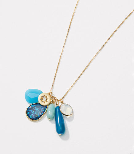 Image of Stone Dangle Pendant Necklace
