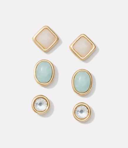 Image of Pastel Stone Stud Earring Set
