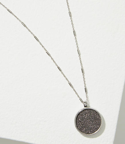Image of Reversible Glitter Pendant Necklace