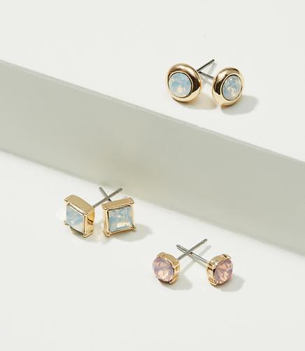 Image of Stone Stud Earring Set
