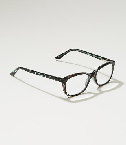 Tortoiseshell Print Rectangle Reading Glasses