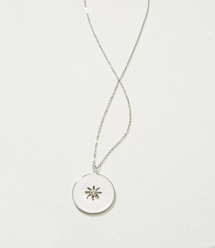 Image of Reversible Flower Pendant Necklace