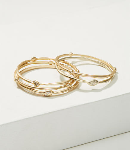 Image of Pave Drop Bangle Set