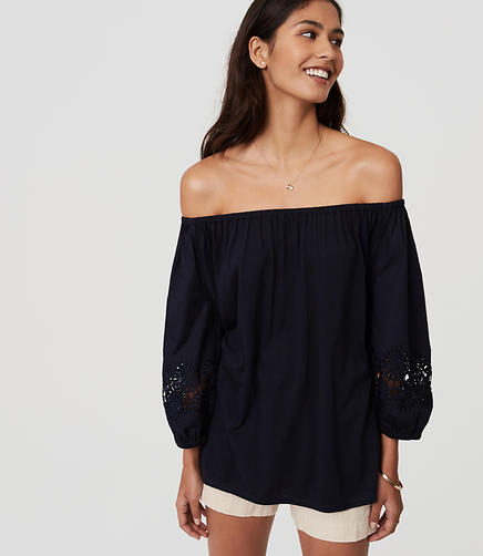 Image of Lacy Off The Shoulder Top