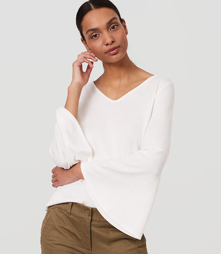 Image of Tie Back Bell Sleeve Top