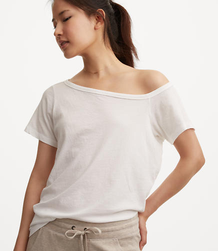 Image of Lou & Grey Softserve Cotton Off The Shoulder Tee