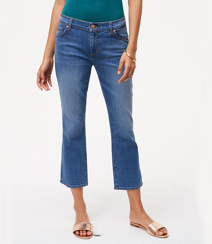 Image of Curvy Kick Crop Jeans in Vivid Indigo Wash