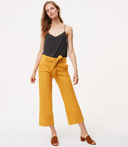 Image of Tie Waist Wide Leg Pants