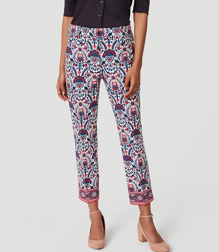 Image of Floral Mosaic Riviera Pants in Julie Fit