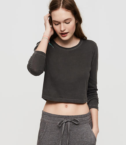 Image of Lou & Grey Cropped Softserve Cotton Tee