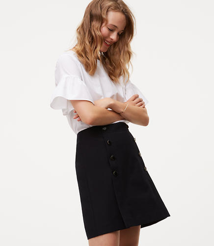 Image of Bi-Stretch Sailor Skirt