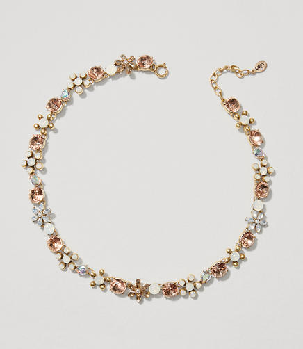 Image of Floral Crystal Necklace