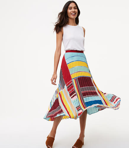 Image of Petite Cabana Pleated Maxi Skirt