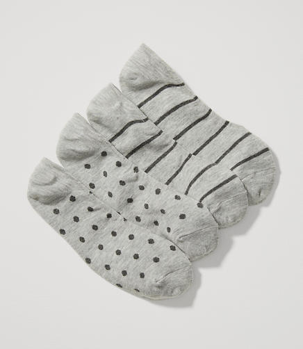 Image of Dot & Stripe No Show Sock Set