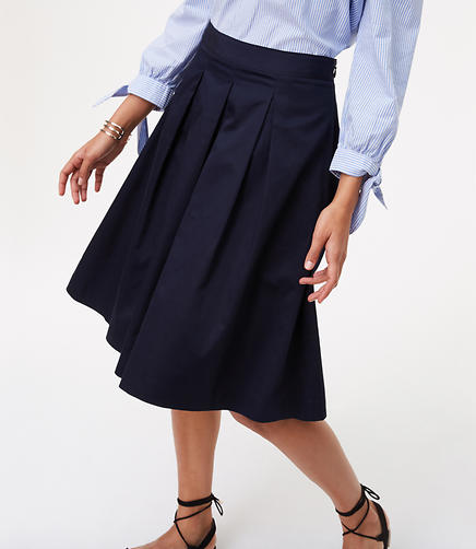 Image of Petite Pleated Skirt