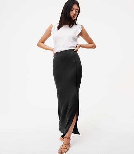 Image of Petite Seamed Maxi Skirt