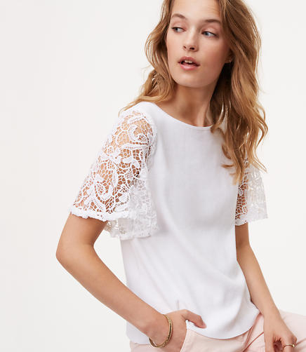 Image of Lace Sleeve Sweater