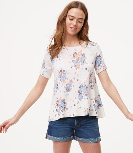 Image of Petite Bouquet Toss Short Sleeve Sweater