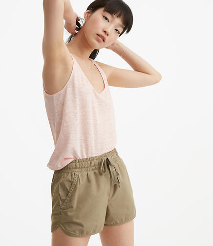 Image of Petite Lou & Grey Poplin Shorts