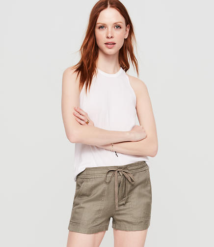Image of Petite Lou & Grey Brushed Linen Shorts
