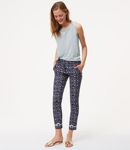 Image of Tall Floral Essential Skinny Ankle Pants in Marisa Fit