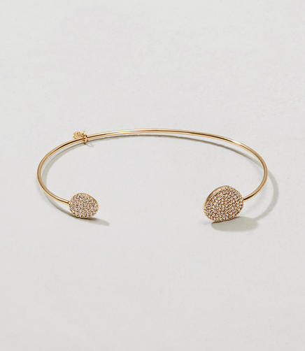 Image of Tai Jewelry Pave Disc Cuff Bracelet